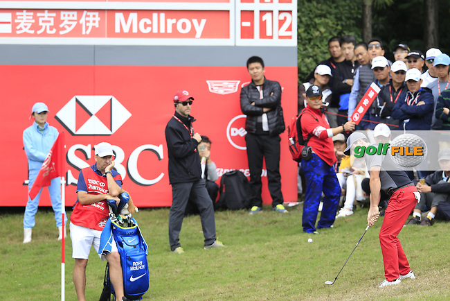 Rory McIlroy (NIR) on the 8th during the final round of the WGC-HSBC Champions, Sheshan International GC, Shanghai, China PR.  30/10/2016<br /> Picture: Golffile | Fran Caffrey<br /> <br /> <br /> All photo usage must carry mandatory copyright credit (&copy; Golffile | Fran Caffrey)
