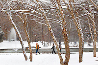 An afternoon stroll in Freedom Park after a January snowstorm in Charlotte, North Carolina.
