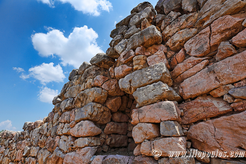 The Cyclopean Walls in Tiryns (1.400 - 1.200 B.C.), Greece
