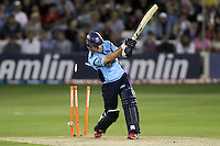 Murray Goodwin of Sussex is bowled out by Graham Napier - Essex Eagles vs Sussex Sharks - Friends Life T20 Cricket at the Ford County Ground, Chelmsford, Essex - 28/06/12 - MANDATORY CREDIT: Gavin Ellis/TGSPHOTO - Self billing applies where appropriate - 0845 094 6026 - contact@tgsphoto.co.uk - NO UNPAID USE.