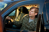 In this episode of Breakout Kings, Lloyd feels terrible about letting the women get away. Lloyd staggers out of SUV, Ray is pissed. Photo: Skip Bolen / A&E Television Networks