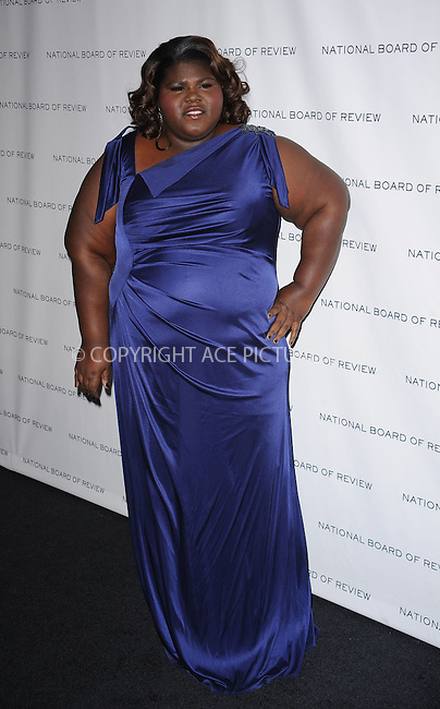 WWW.ACEPIXS.COM . . . . . ....January 12 2010, New York City....Gabourey Sidibe arriving at the National Board of Review of Motion Pictures Awards gala at Cipriani 42nd Street on January 12, 2010 in New York City.....Please byline: KRISTIN CALLAHAN - ACEPIXS.COM.. . . . . . ..Ace Pictures, Inc:  ..(212) 243-8787 or (646) 679 0430..e-mail: picturedesk@acepixs.com..web: http://www.acepixs.com