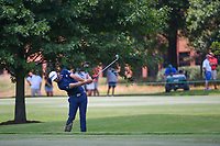 Dustin Johnson (USA) hits his approach shot on 9 during round 4 of the WGC FedEx St. Jude Invitational, TPC Southwind, Memphis, Tennessee, USA. 7/28/2019.<br /> Picture Ken Murray / Golffile.ie<br /> <br /> All photo usage must carry mandatory copyright credit (© Golffile | Ken Murray)