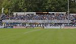 Fans haben ein Spurchband ausgerollt beim Spiel in der Regionalliga Suedwest, 1. FC Saarbruecken - SV 07 Elversberg.<br /> <br /> Foto &copy; PIX-Sportfotos *** Foto ist honorarpflichtig! *** Auf Anfrage in hoeherer Qualitaet/Aufloesung. Belegexemplar erbeten. Veroeffentlichung ausschliesslich fuer journalistisch-publizistische Zwecke. For editorial use only.