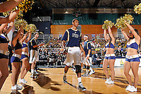 12 January 2012:  FIU guard-forward Dominique Ferguson (3) is welcomed to the court prior to the game.  The Middle Tennessee State University Blue Raiders defeated the FIU Golden Panthers, 70-59, at the U.S. Century Bank Arena in Miami, Florida.