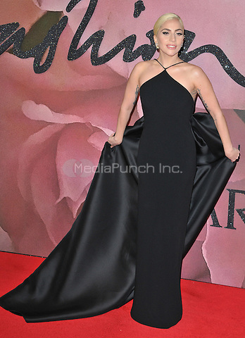Lady Gaga ( Stefani Joanne Angelina Germanotta ) at the Fashion Awards 2016, Royal Albert Hall, Kensington Gore, London, England, UK, on Monday 05 December 2016. <br /> CAP/CAN<br /> ©CAN/Capital Pictures /MediaPunch ***NORTH AND SOUTH AMERICAS ONLY***