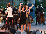 Maestro Larua Jackson, Alli Mauzey and Nicole Parker perform with the Reno Phil during the Pops on the River fundraiser at Wingfield Park in Reno on  Saturday, July 9, 2016.