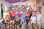 GOOD LUCK!: Shane Carroll, Rock Pk Av, Tralee (seated centre) got a great send off last Friday night, with many family and friends in the Greyhound bar, Tralee as he is heading down under to Australia.