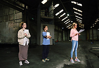 """We Are Still Here"" rehearsal by the National Theatre Wales, in Port Talbot, Wales, UK. Wednesday 23 August 2017"