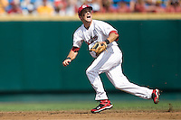 South Carolina's Scott Wingo in Game 7 of the NCAA Division One Men's College World Series on Monday June 22nd, 2010 at Johnny Rosenblatt Stadium in Omaha, Nebraska.  (Photo by Andrew Woolley / Four Seam Images)
