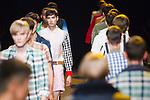 October 22, 2011: Tokyo, Japan - Models walk down the catwalk wearing PHENOMENON during Mercedes-Benz Fashion Week Tokyo 2012 Spring/Summer. The Mercedes-Benz Fashion Week Tokyo runs from October 16-22. (Photo by Christopher Jue/AFLO)