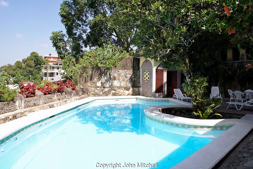 Swimming pool at Posada El Castillo, former home of Edward James in Xilitla, San Luis Potosi state, Mexico