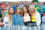 Supporting Kerry at the match in Fitzgerald Stadium on Sunday were Sophie Keane,  Sheena Moynihan,Rachel McCarthy, and Shauna O'Connor, Killarney,