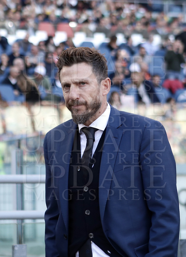 Football, Serie A: AS Roma - Sampdoria, Olympic stadium, Rome, November 11, 2018. <br /> Roma's coach Eusebio Di Francesco prior to the Italian Serie A football match between Roma and Sampdoria at Rome's Olympic stadium, on November 11, 2018.<br /> UPDATE IMAGES PRESS/Isabella Bonotto