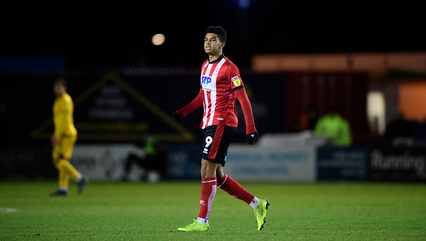Lincoln City's Tyreece John-Jules<br /> <br /> Photographer Chris Vaughan/CameraSport<br /> <br /> The EFL Sky Bet League One - Lincoln City v Milton Keynes Dons - Tuesday 11th February 2020 - LNER Stadium - Lincoln<br /> <br /> World Copyright © 2020 CameraSport. All rights reserved. 43 Linden Ave. Countesthorpe. Leicester. England. LE8 5PG - Tel: +44 (0) 116 277 4147 - admin@camerasport.com - www.camerasport.com