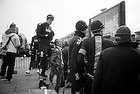 101st Scheldeprijs ..Mathew Hayman (AUS) waiting with his teammates to go on stage