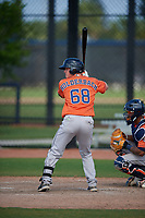 Houston Astros Alex Holderbach (68) bats during a Minor League Spring Training Intrasquad game on March 28, 2019 at the FITTEAM Ballpark of the Palm Beaches in West Palm Beach, Florida.  (Mike Janes/Four Seam Images)