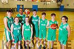 From Left: Rapolas Buivydas, Siofra O'Shea, Leeroy Odiahi, Paris McCarthy, Dáire Kennelly, Sean and Tim Pollmann-Daamen and Tania Salvado, Kerry members of the Irish Basketball teams, pictured at Tralee Sports Complex on Friday evening last.