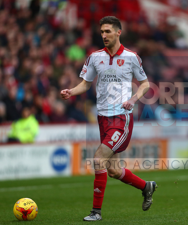 Sheffield United's Chris Basham - Sheffield United vs Bradford City - Skybet League One - Bramall Lane - Sheffield - 28/12/2015 Pic Philip Oldham/SportImage