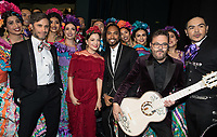 Gael Garc&iacute;a Bernal, Natalia Lafourcade, Miguel backstage during the live ABC Telecast of The 90th Oscars&reg; at the Dolby&reg; Theatre in Hollywood, CA on Sunday, March 4, 2018.<br /> *Editorial Use Only*<br /> CAP/PLF/AMPAS<br /> Supplied by Capital Pictures