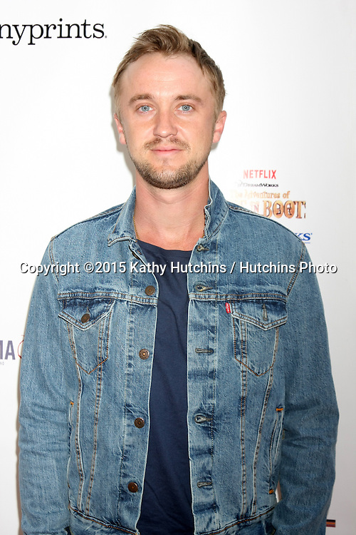 LOS ANGELES - FEB 19:  Tom Felton at the Milk+Bookies Sixth Annual Story Time Celebration at the Toyota Grand Prix Racecourse on April 19, 2015 in Long Beach, CA