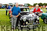 Jerry and Noreen O'Keeffe (Tralee) with their Austin A30 from 1955 pictured at Abbeydorney Vintage on Sunday.