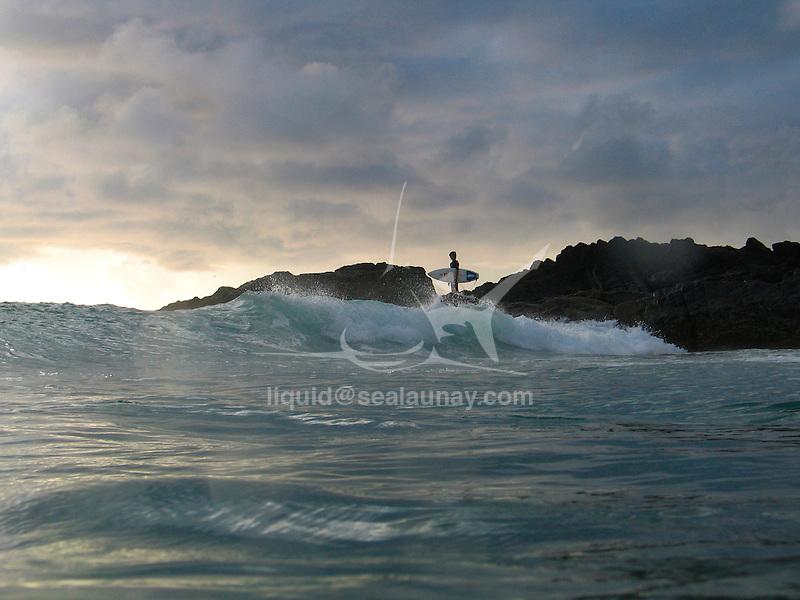 Surfer at Scotts Head.