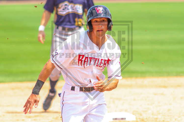 Wisconsin Timber Rattlers first baseman Ryan Aguilar (21) during a Midwest League game against the Burlington Bees on July 10, 2017 at Fox Cities Stadium in Appleton, Wisconsin.  Burlington defeated Wisconsin 6-3. (Brad Krause/Krause Sports Photography)