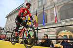 Michael Matthews (AUS) Team Sunweb at the team presentation in Antwerp before the start of the 2019 Ronde Van Vlaanderen 270km from Antwerp to Oudenaarde, Belgium. 7th April 2019.<br /> Picture: Eoin Clarke | Cyclefile<br /> <br /> All photos usage must carry mandatory copyright credit (&copy; Cyclefile | Eoin Clarke)