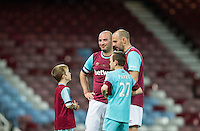 West Ham United supporters say farewell to the Boleyn ground playing a friendly match on the pitch at the Boleyn Ground, London, England on 20 May 2016. Photo by Kevin Prescod.