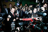 Warsaw 21.10.2007 Poland<br /> Lider of PO Donald Tusk after debate with his elections rival Jaroslaw Kaczynski .<br /> Parliament elections in Poland in 2007. Fight of two leading candidates Jaroslaw Kaczynski from PIS ( centre-right fraction ) and Donald Tusk from PO ( liberal fraction )<br /> (Photo Adam Lach / Napo Images for Newsweek Polska)