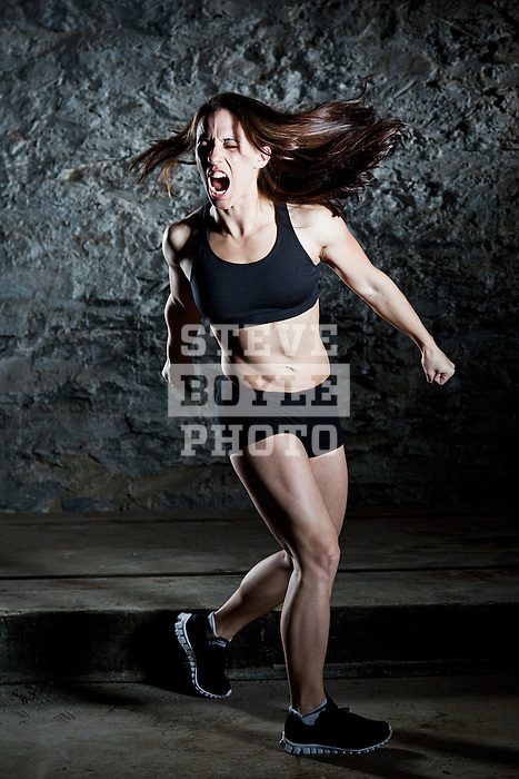 MODEL RELEASED - Caucasian female fitness model..2012 © Steve Boyle