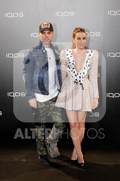Fonsi Nieto and Marta Castro attends to IQOS3 presentation at Palacio de Cibeles in Madrid. February 10,2019. (ALTERPHOTOS/Alconada)