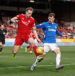 03.03.2019 Aberdeen v Rangers: Greg Stewart and Borna Barisic