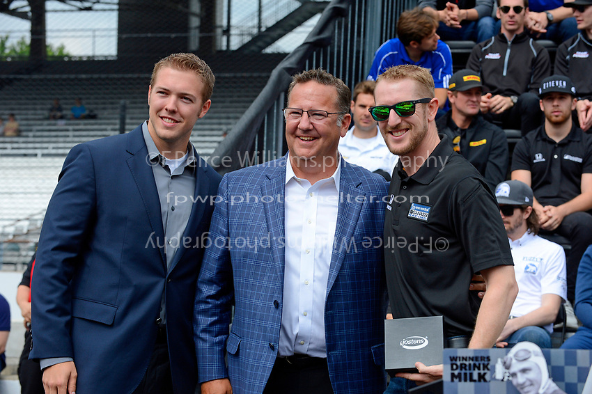 Verizon IndyCar Series<br /> Indianapolis 500 Drivers Meeting<br /> Indianapolis Motor Speedway, Indianapolis, IN USA<br /> Saturday 27 May 2017<br /> Starter's ring presentation: Charlie Kimball, Chip Ganassi Racing Teams Honda<br /> World Copyright: F. Peirce Williams
