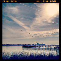 Early morning view at dawn on the Halifax River, Holly Hill, FL, iPhone photo from the instgram photo stream of bcpix, Florida-based freelance photographer Brian Cleary.