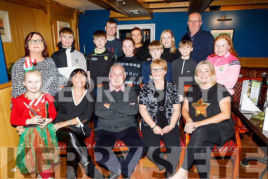 The Commane family from Tralee enjoying a family gathering in the Imperial Hotel on Saturday.<br /> Front l to r: Lily Mae Fisher, Lillian O'Carroll, Gerald and Catherine Commane and Siobhan Stewart.<br /> Back l to r: Fionnuala Barrett, Dan Fisher, Niall, Kay and Jack Collins, Cathal and Rina O'Carroll, Ellie Stewart, James Fisher, Fergus O'Carroll and Anna Collins.