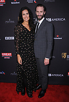 06 January 2018 - Beverly Hills, California - Maria Dolores Dieguez &amp; Joseph Fiennes. 2018 BAFTA Tea Party held at The Four Seasons Los Angeles at Beverly Hills in Beverly Hills.    <br /> CAP/ADM/BT<br /> &copy;BT/ADM/Capital Pictures