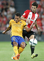 Athletic de Bilbao's Markel Susaeta (r) and FC Barcelona's Adriano Correia during Supercup of Spain 1st match.August 14,2015. (ALTERPHOTOS/Acero)