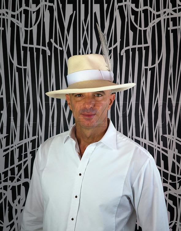 Developer Alan Faena at Faena Sales Center on Miami Beach.