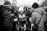 Gent-Wevelgem 2013.Fabian Cancellara (CHE) making his way to the sign-in in Deinze