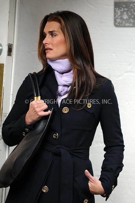 WWW.ACEPIXS.COM . . . . .  ....October 6 2008, New York City....Actress Brooke Shields was on the set of the TV show 'Lipstick Jungle' in Soho on October 6 2008 in New York City....Please byline: AJ Sokalner - ACEPIXS.COM..... *** ***..Ace Pictures, Inc:  ..te: (646) 769 0430..e-mail: info@acepixs.com..web: http://www.acepixs.com