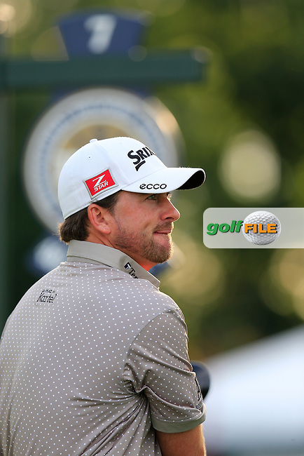 Graeme McDowell (NIR) in action during Monday's Practice Day of the 95th PGA Championship 2013 held at Oak Hills Country Club, Rochester, New York.<br /> 5th August 2013.<br /> Picture: Eoin Clarke www.golffile.ie