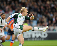 Twickenham, GREAT BRITAIN, Shane GERAGHTY, kicking the ball clear, during the EDF Energy Cup rugby match,  Harlequins vs London Irish, at Twickenham Stoop, Surrey on Sat 25.10.2008 [Photo, Peter Spurrier/Intersport-images]