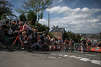 Kelly van den Steen (BEL/Lotto Soudal) up the infamous Mur de Huy.<br /> <br /> 22nd la Flèche Wallonne Féminin 2019 (1.WWT)<br /> 1 Day Race: Huy – Huy 118,5km<br /> women's elite race<br /> <br /> ©kramon