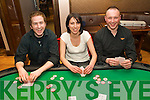 Poker Faces - Enjoying themselves at the Abbey Inn Annual Poker Classic in aid of Our Lady's Hospital for Sick Chideren, Crumlin on Sunday night were l/r Donal Breheny, Carol-Anne O'Meara and Danny Leane.................................................................................................................................................. ............