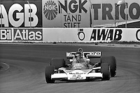 ANDERSTORP, SWEDEN - JUNE 13: James Hunt of Great Britain drives his McLaren M23 8-2/Ford Cosworth during the Grand Prix of Sweden FIA Formula 1 race at Scandinavian Raceway near Anterstorp, Sweden, on June 13, 1976.