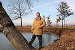 18 Gennaio 2006.Domenico Siniscalco, nella casa di campagna nelle Langhe.Domenico Siniscalco in his farm  house in Langhe