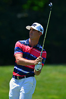 Potomac, MD - June 30, 2017: Billy Horschel plays his secind shot on the 9th hole during Round 2 of professional play at the Quicken Loans National Tournament at TPC Potomac at Avenel Farm in Potomac, MD, June 30, 2017.  (Photo by Don Baxter/Media Images International)