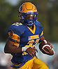 Chris Collier #22, Lawrence running back, rushes for a gain during a Nassau County Conference III varsity football game against Bethpage at Lawrence High School on Saturday, Oct. 7, 2017. Collier scored three touchdowns in Lawrence's 35-31 win.